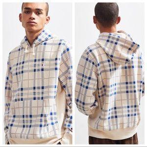 Champion Plaid reverse weave hooded sweatshirt